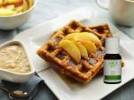 Waffles con Manzana y Aceites Esenciales Bo Spa